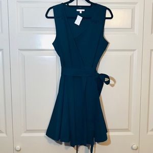 ANGL Partial Lacey Wrap Dress